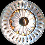 Button--Exquisite Georgian 18th C. Compound Ajoure Pearl on Copper Foil Medium
