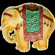 Button ~ Vintage Extra Large Toshikane Arita Porcelain Circus Elephant