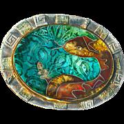 Brooch--Fine Cloisonne Enamel Rattlesnake on Sterling Silver by Susan Knopp