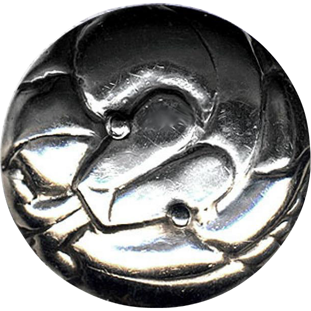 Button--Scarce Very Large Early 20th C. William Spratling Taxco Sterling Silver Figural Coiled Snake