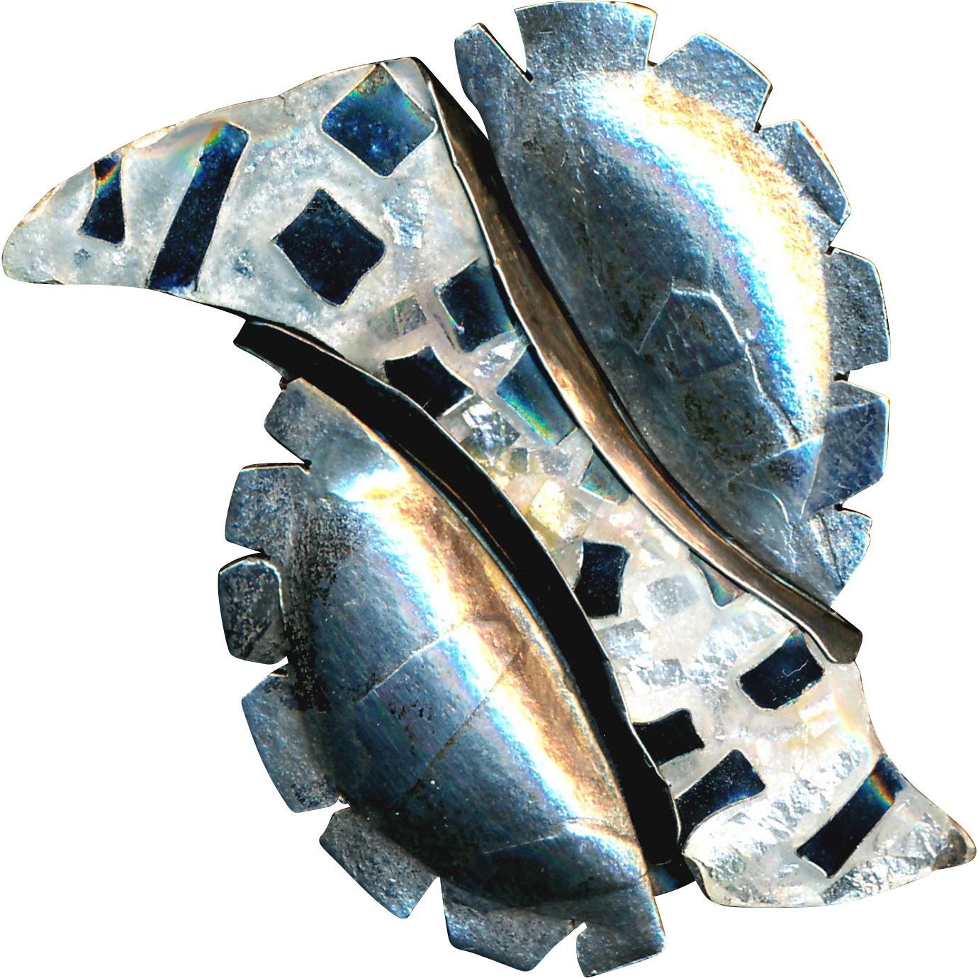 Brooch--Abstract Transparent Modern Enamel on Sterling by Susan Gifford Knopp