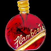 Button--Vintage Plastic Realistic Commercial Perfume Bottle--Flambeau