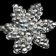 Button--Late Georgian Layered Dimensional Cut Steel Star As Is