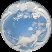 Button--Very Large Studio Jasperware Art Nouveau Recumbent Lady