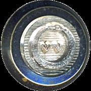 Button ~ Very Rare Mid-19th C. Memento Mori Symbols Vanitas Vanitatum Waistcoat Crystal Jewel