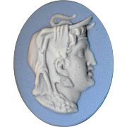 Button--Classical Jasperware Greek Head by Marie LaBarre Bennett Modern 1950s