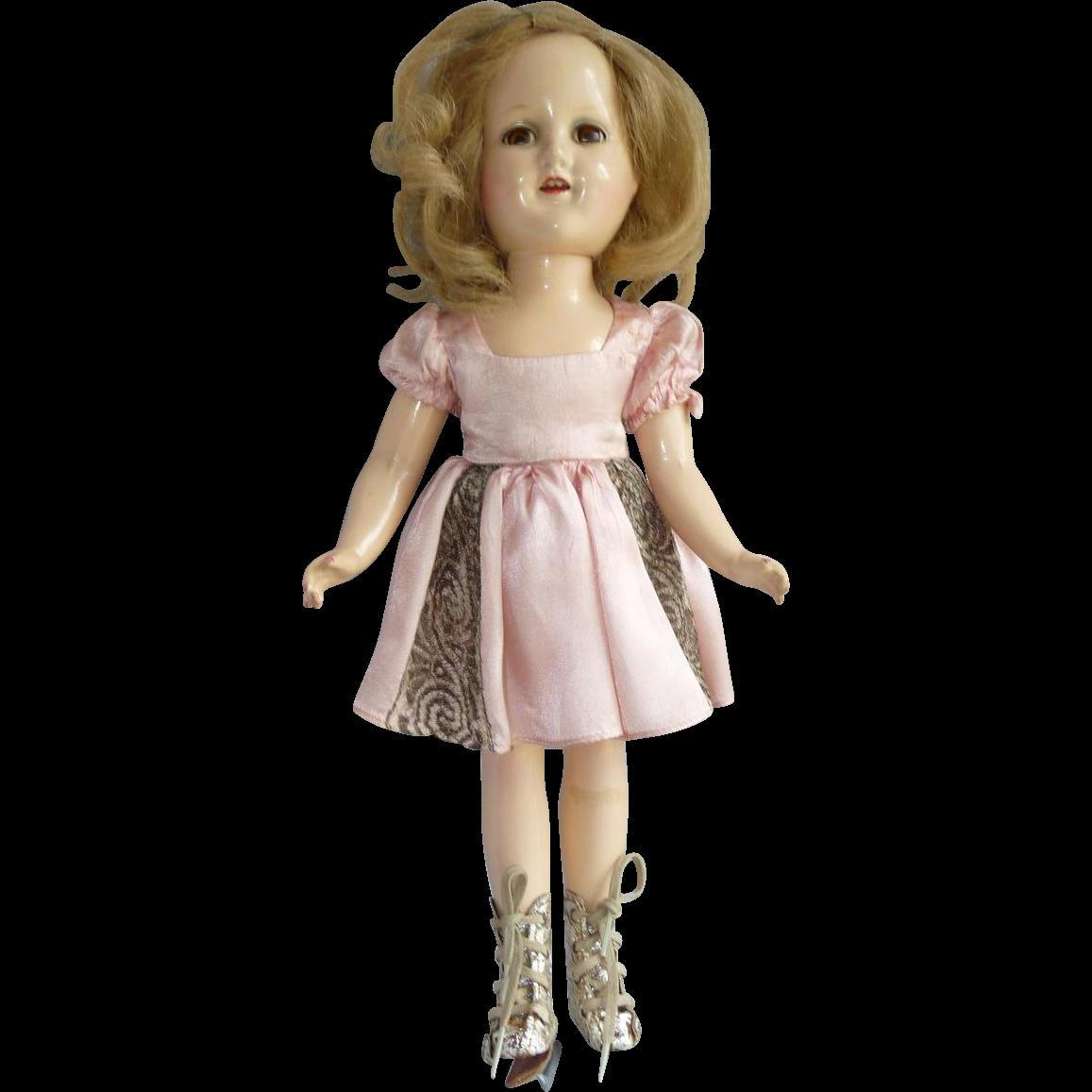 """All Original Sonja Henie Doll, 14"""""""