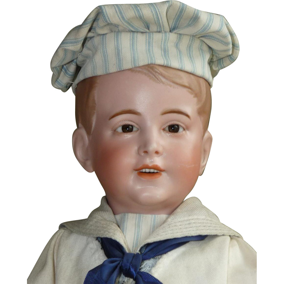 ON HOLD! Large SFBJ 237 Sailor Boy with Molded Hair
