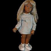 Blonde Sasha doll with Gingham dress