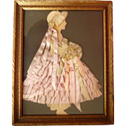 Paper Doll with Ribbons, Framed for Your Display Room