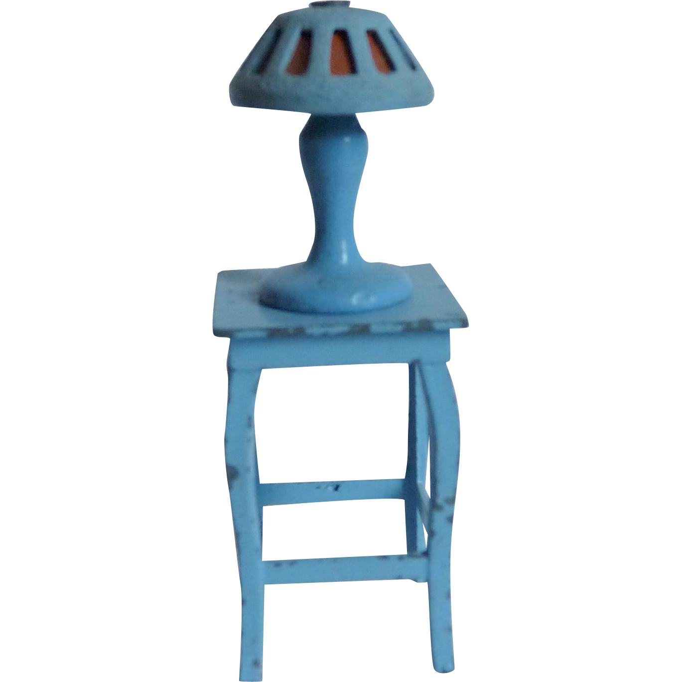 Tootsie Toys Table and Lamp in Blue