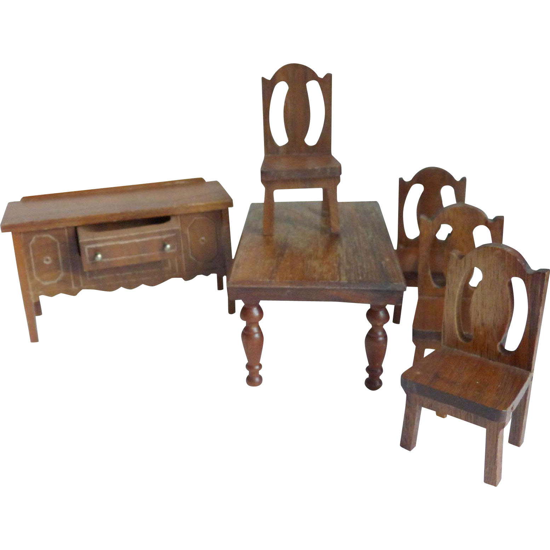 Vintage Dollhouse Furniture Dining Room