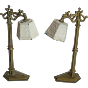 Pair of Ornate Tootsie Toy Lamps