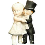 "3"" Kewpie type Bride and Groom"