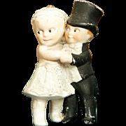 """3"""" Kewpie type Bride and Groom"""