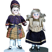 German All-Bisque Couple in Original Costumes