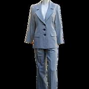 Vintage YSL Suit Classic St. Laurent Wool Silk Pant Suit