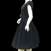 Vintage 50s Perfect Black Dress LBD
