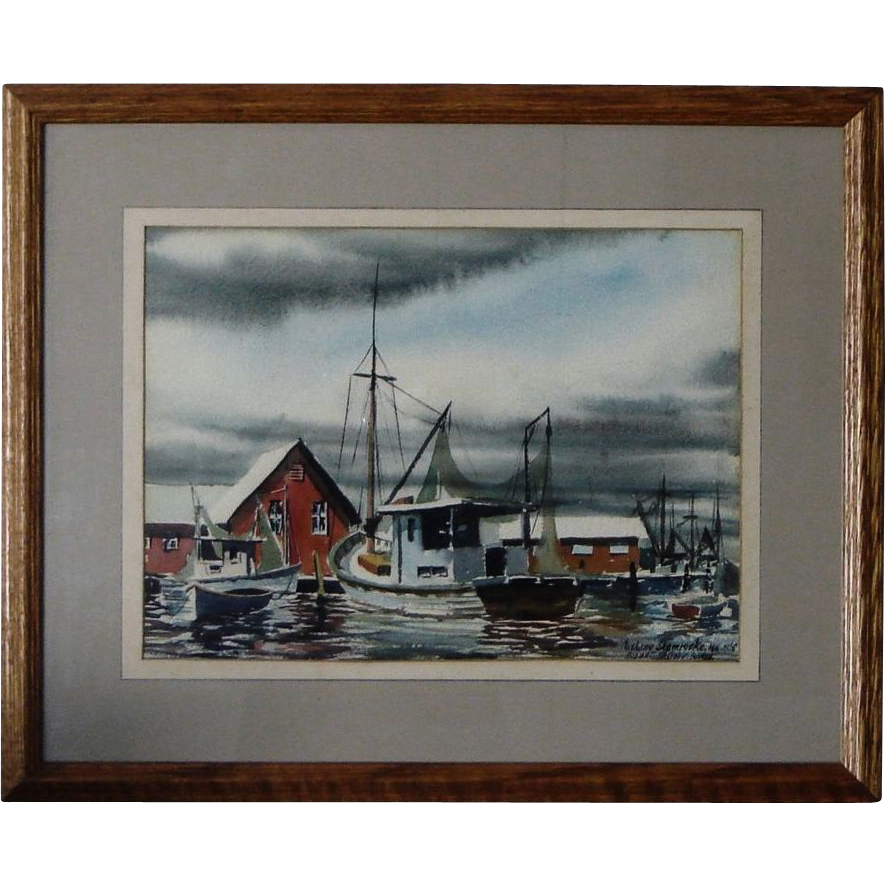 Biloxi Shrimp Boats Anthony Shemroske 1956