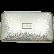 Sterling Silver Cigarette Case R Blackinton 6 Ounces