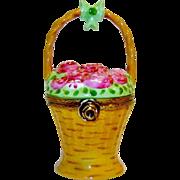 Limoges Box Basket of Roses Surprise Inside