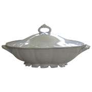 Haviland Limoges White Star Pattern Schleiger # 5 Covered Dish Tureen