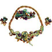 Har Cobra Necklace Clamper Bracelet Earrings Enamel Book Set
