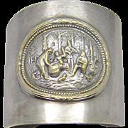 Vintage Denmark Repousse Cuff Story Bracelet