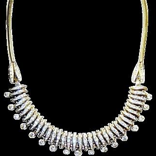 Vintage Deco Esha Randel Necklace  Machine Age German Diamante Rhinestones