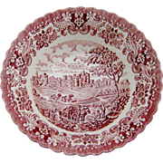 Old Country Castles Pin Red Transferware Bowl England