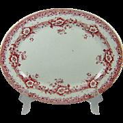 Keeling Art Nouveau Platter Pink Red Devon Transferware