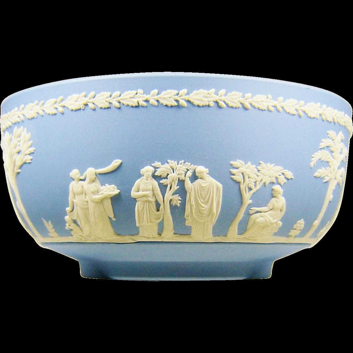 Wedgwood Blue Jasperware Sacrifice Bowl