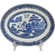 Swinnerton Blue Willow Platter Large England Transferware