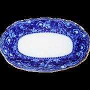 Ridgway Flow Blue Dish Tray Josephine