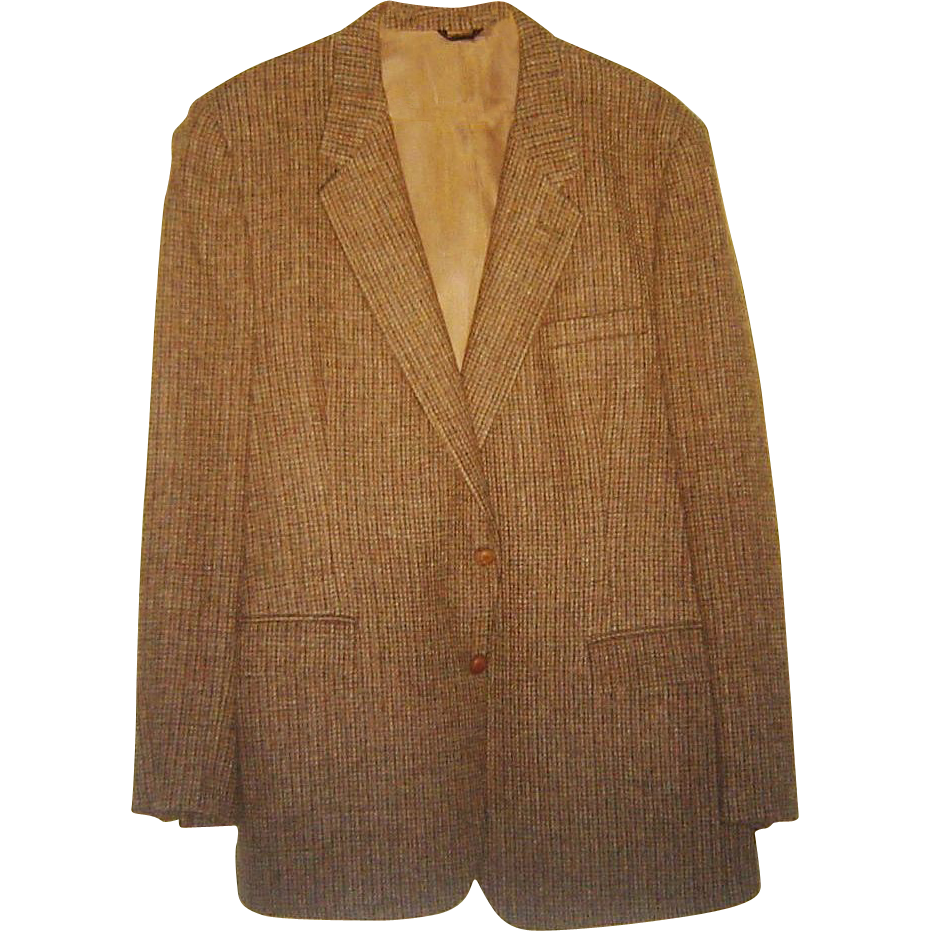 Vintage Oscar de la Renta Jacket Donegal Tweed Sport Coat