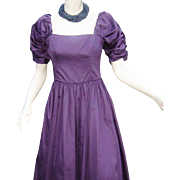 Vintage Laura Ashley Dress Purple