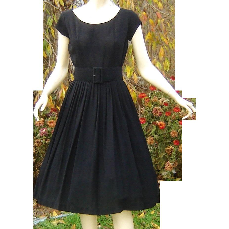 Vintage 1950s Black Dress