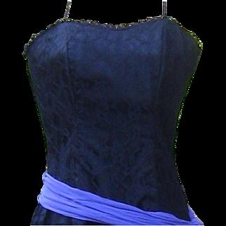 Vintage 1980's Dress Warrell Black Lace