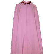 Vintage 1960s Dress and Cape Balestra Roma Rose Wool Haute Couture