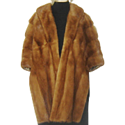 Vintage 1960s Mink Stole Natural Autumn Haze