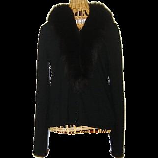 Vintage Fox Cashmere Sweater Black