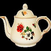 Arthur Wood England Teapot Dorset Rose