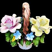 Capodimonte Flower Basket Roses