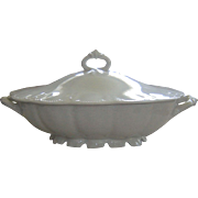 Haviland Limoges Covered Vegetable White Star Pattern Schleiger # 5 Covered Dish Tureen