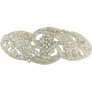 Vintage 1930s Diamante Rhinestone Brooch Huge