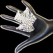 Vintage Mimi Di N Brooch Diamante Rhinestone