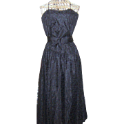 Vintage 1980's Dress Warell Black Lace