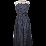 Vintage 1980's Dress Warell Black Lace