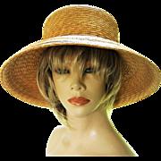 Vintage 1980s Eric Javits Straw Hat NWT Nordstom Box