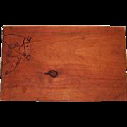 Vintage Horse Stool Handmade Signed Numbered
